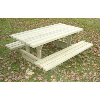 Table JUNIOR rectangulaire 1,5 m + 2 bancs