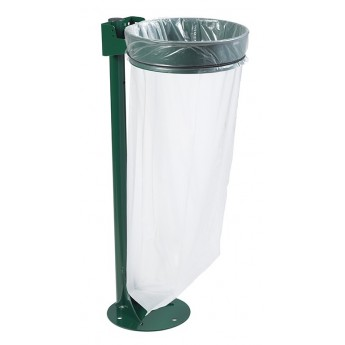 SUPPORT SAC ECOLLECTO+POTEAU/PLATINE VERT 6005 110L
